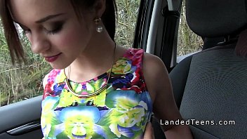 Sex With A Babe Taken To The Forest Where She Is Fucked In The Car