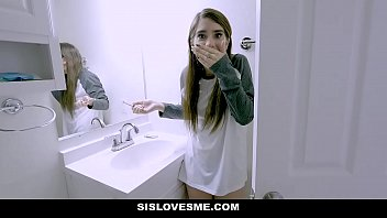 A Young Brunette Get Out Of The Mistake Than Her Brother, Who Fucks Her In Her Mouth, Forced