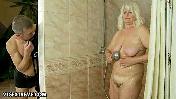 The Blonde With The Big Tits Is Surprised By Her Man While Taking A Hot Shower