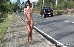 Slut Amateur Shows Her Tits In Public