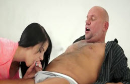 An Old Man Is Sucking The Cock By The Girl Of His