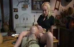 Monica Preziosi Fucks A Bald Guy With A Big Dick-Part 1