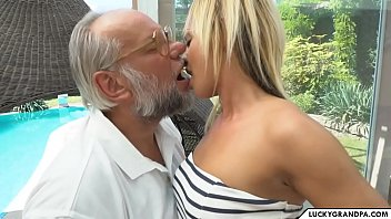 Porn Video With A Blonde Fucking With Old Men