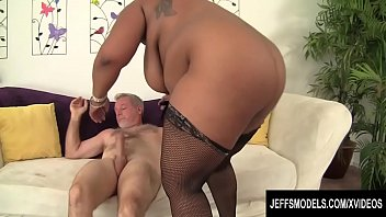 The Black Chick Fat Chick Doing Porn With Old Man, Her Favourite, What A Fucking Good