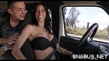 Pussy Husband Gets Fucked In A Car By A Kid.