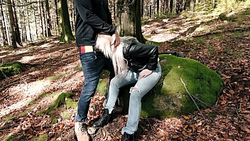 Sex With A Blonde Fucked In The Woods