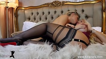 Lesbians In Stockings And Girdle To Masturbate And Have Orgasms