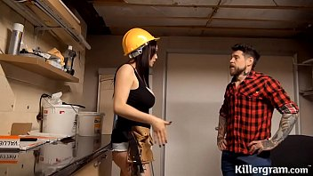 Brunette, Builder, Low Your Fucking Client Horny